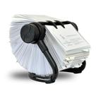 Rotační pořadač na vizitky AV-225 Rotacard ® - černá matná barva